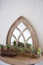 Wood Arched Mirror