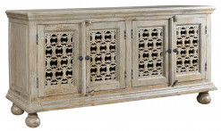 Bengal Manor 4 Door Carved Sideboard