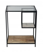 Downing Mixed Material Chairside Table