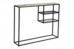 Linda Metal and Marble Console Table