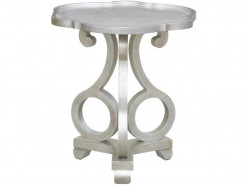 Adriana Brushed Silver Side Table