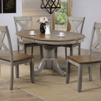 """Barnwell 57"""" Pedestal Table with 4 X-Back Side Chairs"""