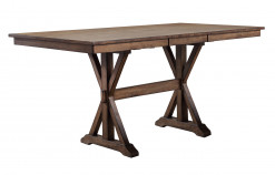 "Carmel 78"" Tall Table w/ 18"" Butterfly Leaf w/6 Stools"
