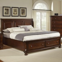 Reflections King Sleigh Storage Bed