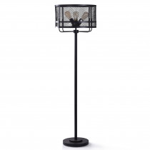 Satin Black Floor Lamp