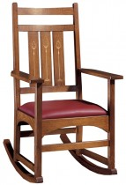 Mission Harvey Ellis Rocking Chair, With Inlay