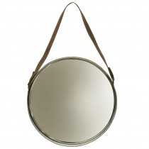 Leather Belted Wall Mirror