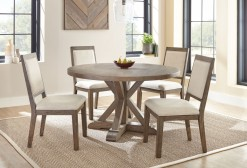 "Molly 54"" Round Table w/4-Upholstered Side Chairs"