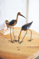 Set of 2 Recycled Metal Birds