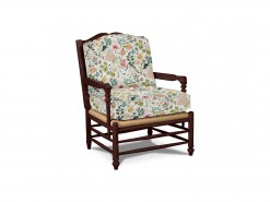 Wooden Accent Chair w/Rush Seat
