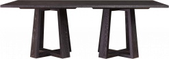 Modern Loft Rectangular Dining Table W/4 Side Chairs & 2 Arm Chairs