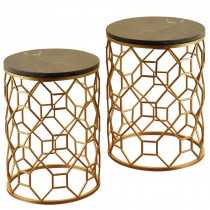 Round Side Tables S/2